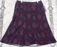 New! Sz 12 Briggs New York Paisley Flare Bottom Skirt in Orland Park, Illinois