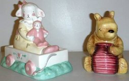 Vintage Charpente Ceramic Lamb/Bunny & Winnie the Pooh Piggy Banks in Orland Park, Illinois