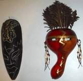 Set of 2 African Tribal Mask Wall Art ~ Home Decor in Joliet, Illinois