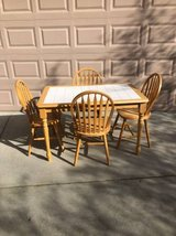 5 Piece Solid Wood and Tile Dining Set in Travis AFB, California
