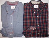 Men's 2XL Stafford Prep Casual Dress Shirts ~1 checked + 1 plaid in Westmont, Illinois