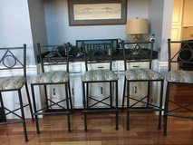 Five bar height bar stools-100 all in Naperville, Illinois