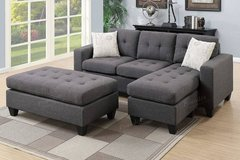 New! 2-Pcs Mini Sectional with Ottoman FREE DELIVERY in Camp Pendleton, California