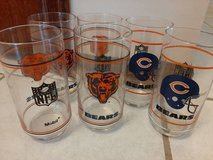 Chicago Bears glasses 1980's in Orland Park, Illinois