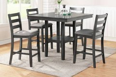 New! Gray 5 Pc Counter Height Dining Set. Free Delivery in Camp Pendleton, California