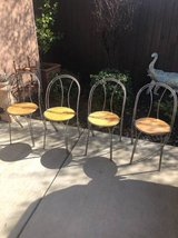 Set of 4 metal and wood Parlor Chairs in Travis AFB, California