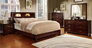 New Brown Cherry Eastern King Bookcase Bed Frame- FREE DELIVERY in Camp Pendleton, California