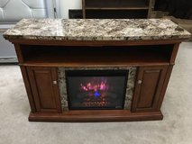 """56"""" Faux Granite-Top Fireplace TV Stand/Media Console- Brown in Westmont, Illinois"""