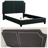 New! QUEEN Size Charcoal Linen Double Panel Bedframe FREE DELIVERY in Camp Pendleton, California