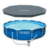 "Intex 13' x 39"" Metal Frame Above Ground Swimming Pool in Joliet, Illinois"
