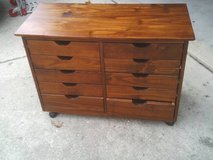 CABINET WITH 10 DRAWERS ,ON ROLLERS ,EXCELLENT CONDITION,PRICED TO SE in Naperville, Illinois