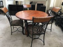 Ashley Furniture St. Lauret Dining Table Set-Brown Finish in Joliet, Illinois