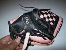 rawlings pink and black youth baseball glove pl90pb 9 inch players series in Orland Park, Illinois