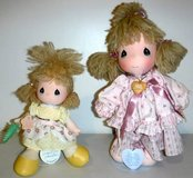 Vintage '80s Set of 2 Precious Moments Dolls w/stands in Westmont, Illinois