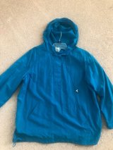just my size women blue windbreaker 16W= 1X in Naperville, Illinois