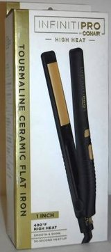 "New! Conair InfinitiPRO 1"" Tourmaline Ceramic Flat Iron in Chicago, Illinois"