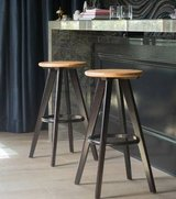 Traditional Wood Finished Bar Stools - Set of Two - New! in Bolingbrook, Illinois