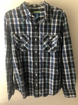 Boys plaid shirt size M 12/14 in Naperville, Illinois