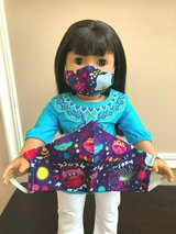 "Handmade Face Mask Set for Kids & for American Girl 18"" Doll Trolls 100% Cotton in Naperville, Illinois"