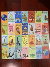 STRETCHED CANVAS POSTER BOARD ALPHABET AROUND THE WORLD IN 26 CITIES in Travis AFB, California