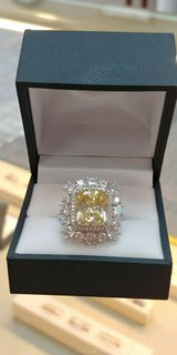 sterling silver synthetic citrine accented with cz, sz 9 in Camp Lejeune, North Carolina