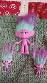 "2015 Dreamworks HASBRO 10"" Troll + 2 Mini Trolls!   Pink and Purple in Houston, Texas"
