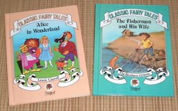 Vintage 80s Alice Wonderland Fisherman and His Wife HardCover Book Lot Kidfest in Morris, Illinois