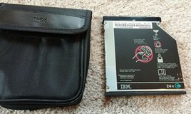 IBM Thinkpad Ultrabay 27L3583 Optical Drive + IBM Case (used) in Naperville, Illinois