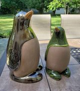 2 Penguin Statues Glazed Clay Pottery in Naperville, Illinois