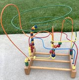 Educational Wood Bead / Wire Rollercoaster Maze Toddler Toy in Naperville, Illinois