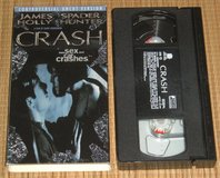 RARE Vintage 1997 Crash VHS Controversial Uncut Version James Spader Holly Hunter in Yorkville, Illinois