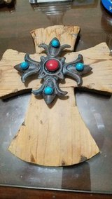 "Hand Made Wood  and Metal Cross!  Three Dimensional!    Really unique!! 10""; in Bellaire, Texas"