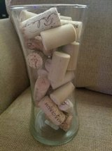 """New 8"""" Libbey Glass flower vase and wine corks in Camp Pendleton, California"""