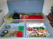 Craft Bundle w/Storage ~Beads Ribbon Floral items + in Naperville, Illinois