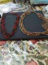 2 Handmade Crochet Necklaces! So Unique!  Red & Black + Orange & Brown! in Bellaire, Texas