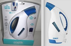 New! Conair Clothing/ Garment Fabric Steamer w/retractable Cord Spill Protect in Chicago, Illinois