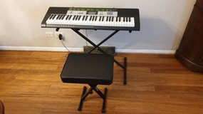 Casio LK-135 Teaching Keyboard with bench. 1 Year warranty in Naperville, Illinois