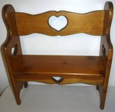 Wooden Doll Bench - fits up to American Girl size Dolls in Orland Park, Illinois
