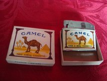 new old stock 1960's penguin japan automatic lighter no 18250 camel cigarettes in Bolingbrook, Illinois