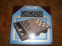 new fundex games brand checkers w premium wood storage cabinet and game board in Bolingbrook, Illinois