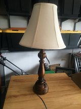 "Wooden Look Table Lamp 25"" Tall with 13"" Wide Shade in Quantico, Virginia"