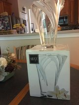 "Gorgeous Brand New Mikasa 24% Lead Crystal Swing Frost Vase 9.5"" NIB in Quantico, Virginia"