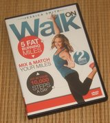 Walk On 10,000 Steps Weight Loss 5 Fat Burning Miles Indoor Walking Exercise DVD in Yorkville, Illinois