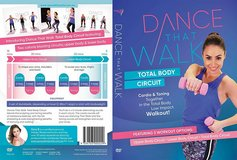 Dance That Walk DVD Total Body Circuit Cardio Toning in a Low Impact Walk Workout in Yorkville, Illinois