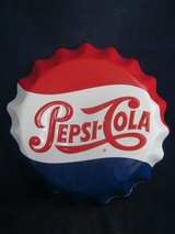 "Pepsi Cola Metal Sign Bottle Cap 11"" VINTAGE in Bolingbrook, Illinois"