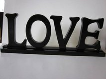 """Wood """"Love"""" Sign in Algonquin, Illinois"""