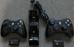 Microsoft Xbox 360 Controllers (X2) With Nyco Charging Dock & Batteries in Fort Campbell, Kentucky