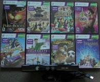 Microsoft Xbox 360 Kinect With 8 Games in Fort Campbell, Kentucky