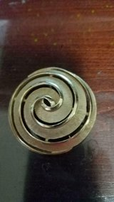 """Vintage TRIFARI Large Brushed Gold Tone Swirl Brooch / Pin! Signed 2"""" in Spring, Texas"""