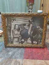 """Vintage Gene Autry and His Horse 'Champion' Black and White Promo Picture Framed! 8"""" x 10"""" in Bellaire, Texas"""
